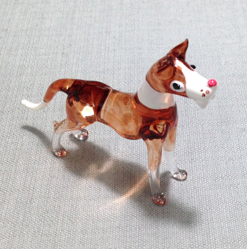 Boxer Figurine Hand Painted Statue