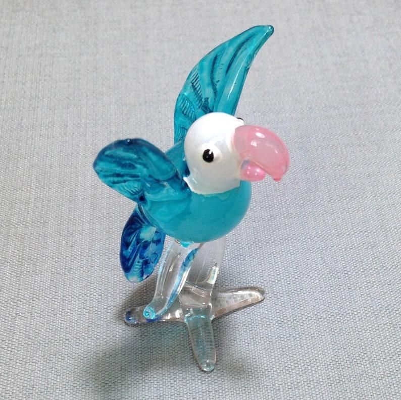 Cockatoo White bird Miniature Dollhouse Collectible Garden Decor 1:12