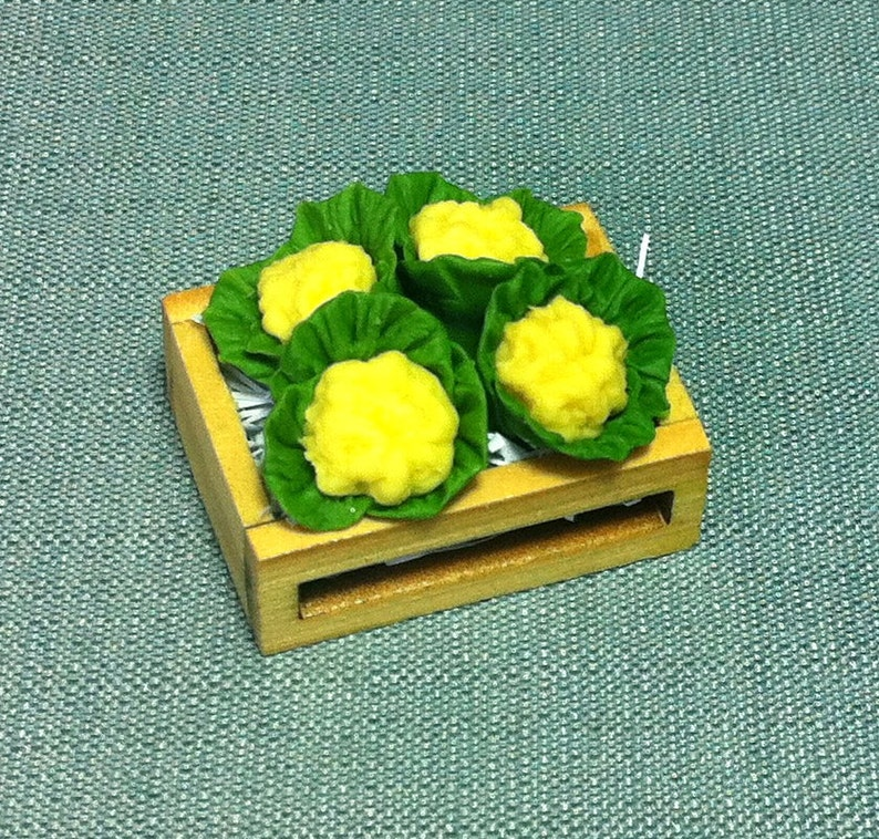 Dollhouse Miniatures Crate of Mixed Vegetables Food Supply Deco 2