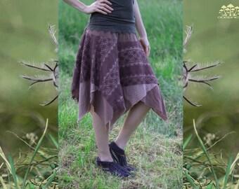 Dusty Brown-Rose Handmade Layered Fairy Skirt