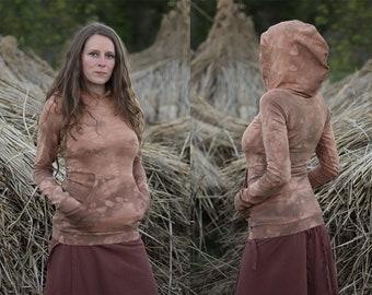 Terracotta Hoodie Longsleeve French Terry Sweatshirt