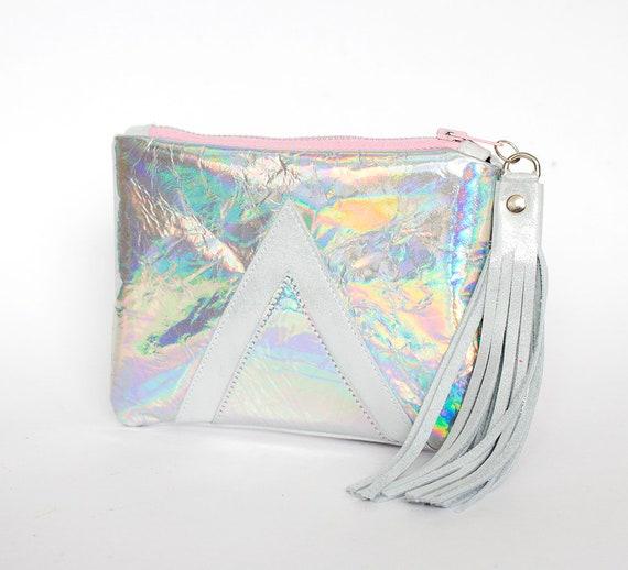 Holographische Geldbörse Hologramm Portemonnaie Irisierender   Etsy