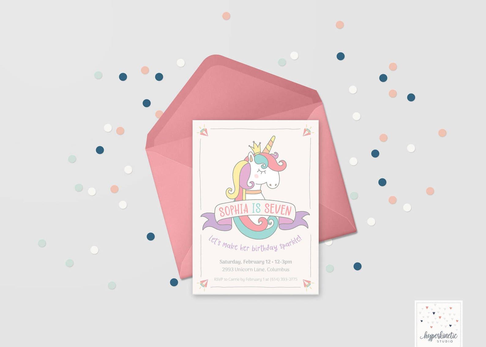 Printable Unicorn Invitations Page Nine