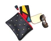 DOTS - Handmade leather bag/Clutch