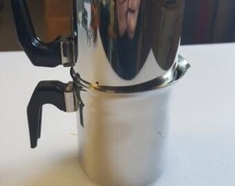 ILSA Neopolitan - Flip Espresso Coffee Pot - 7 inches Complete - Made in Italy