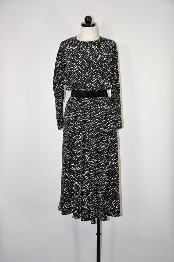 1990s polka dot dress