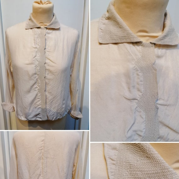 1930s blouse - Beautiful silk blouse from the 30s