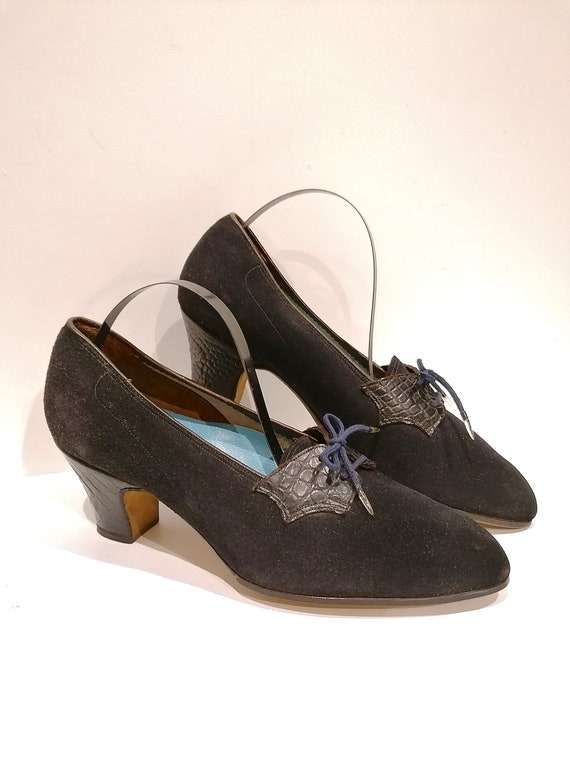 Shoes 1930s - Size 37 - Superb pair of shoes of th