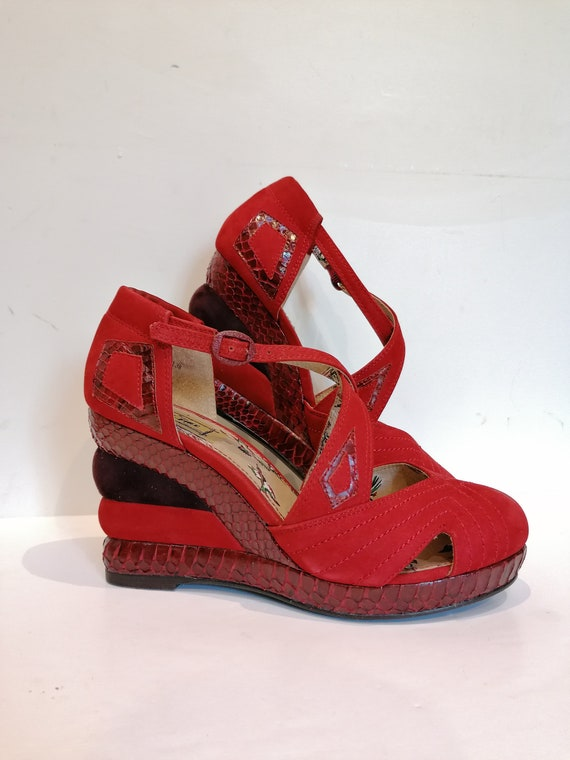 Retro shoes Pt. 38 - Miss L-Fire style 40s - Red/b