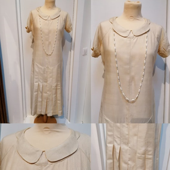 1930s Dress - 30s- Dry Silk Dress - Thirties Dress