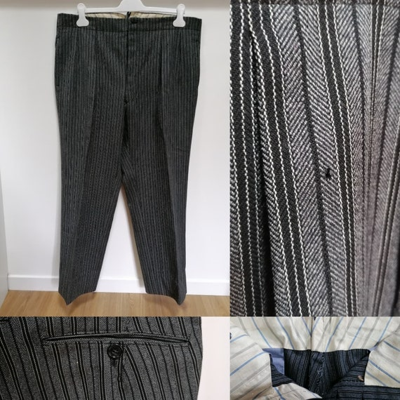 Pants 1930s - Grey striped trousers from the late