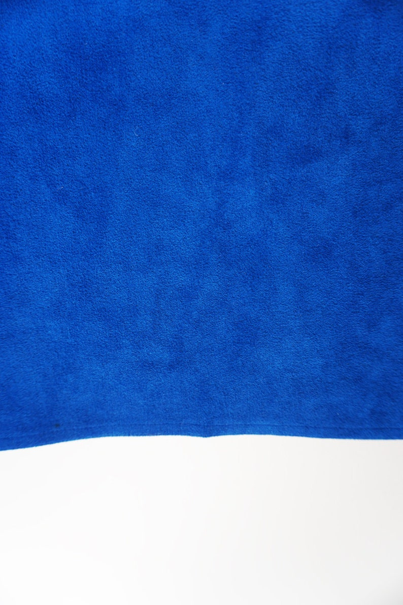 Vintage Royal Blue Suede Wiggle Pencil Secretary Skirt