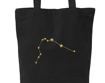 30120b3fdd20 Star Constellation Canvas Tote Bag