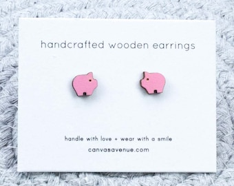 f26d7b733 Pig Earrings, Pig Ear Studs, Pig Gifts, Farm Animal Earrings, Pig Jewelry,  Tiny Pig Ear Studs, Small Animal Studs, Gifts for Animal Lovers