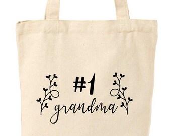 Number 1 Grandma Tote Bag 4b9658824d9