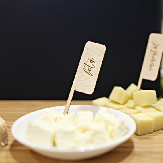 Wooden Cheese Markers Cheese Signs Cheese Stakes Diy Etsy