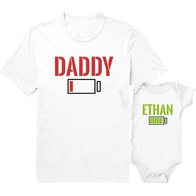 Battery Dad and Baby Shirts, Daddy and Son Matching Shirts, Daddy Daughter  Shirts, Father's Day Gift Ideas, Dad and Baby Shirts
