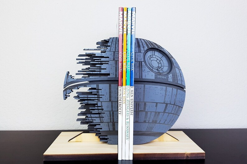 Death Star Bookends Gray StarWars Star Wars Book Ends image 0