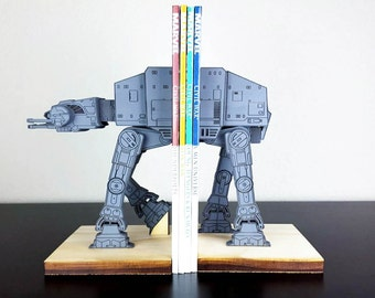 AT AT on a leash StarWars Star Wars Bookends - Gray
