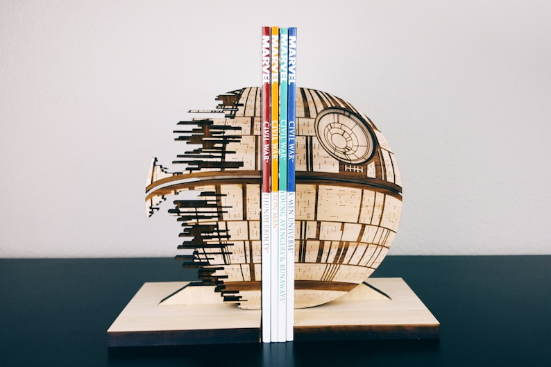 Bookends Death Star StarWars Star Wars Book Ends image 0