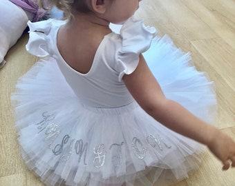 Personalized Tutu Birthday Flower Girl Ballet Skirt