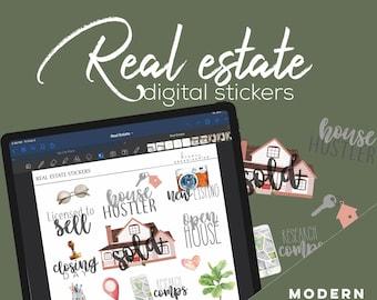 Real Estate Digital Sticker Bundle for Goodnotes | Realtor Digital stickers for digital planners