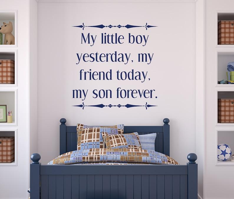 My little boy my son forever nursery wall decor nursery image 0