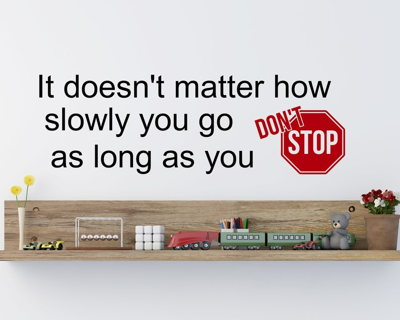 It doesn't matter how slowly you goteacher decal image 0