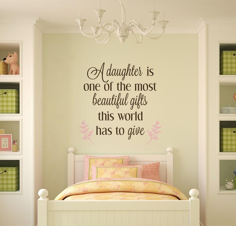 A daughter is beautiful gifts  nursery wall decor nursery image 0