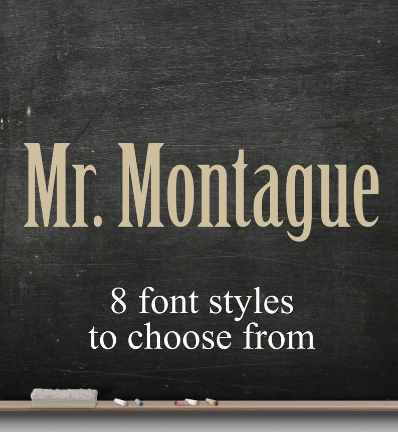 Teacher name classroom decals teacher decal Personalize image 0
