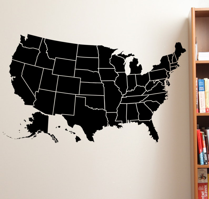 United States wall decal classroom wall decal large wall image 0