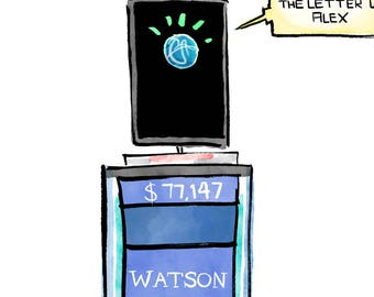 Watson on Jeopardy! Print
