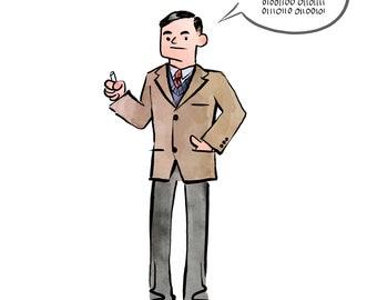 Alan Turing Print