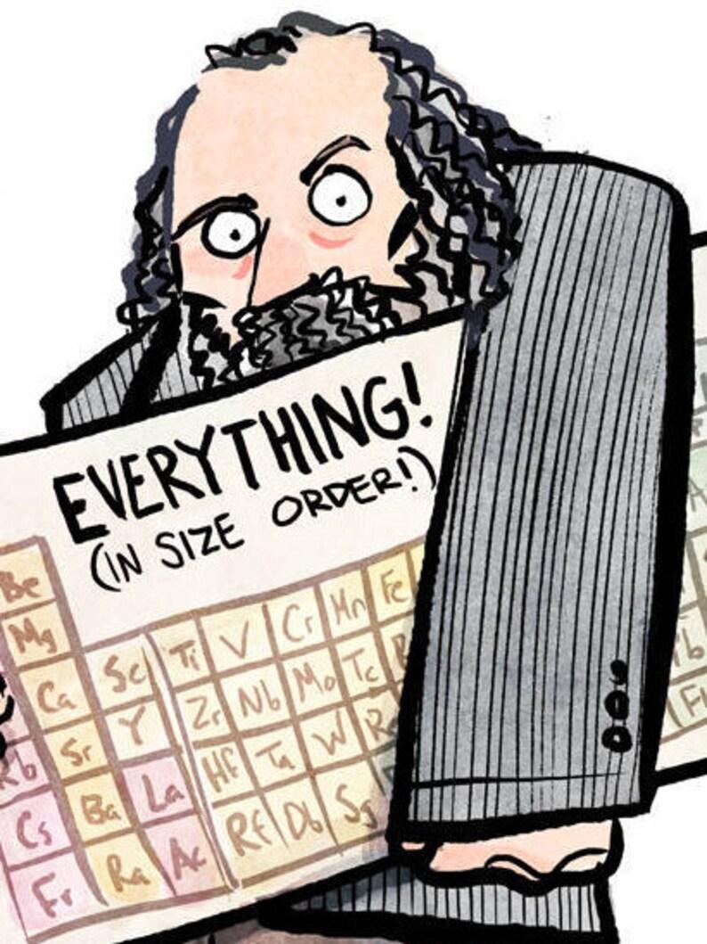 Dmitri mendeleev e la tavola periodica degli elementi stampa etsy - Mendeleev e la tavola periodica ...