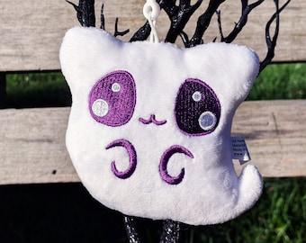 Ghost Kitty Plush Keychain