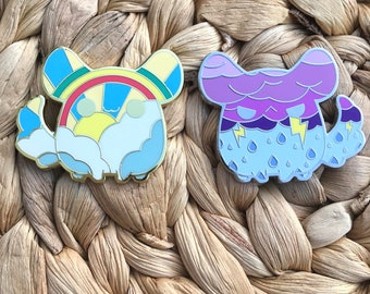 Happy and Angry Chinchilla Pins
