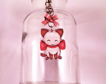 Bow Kitty Cell Phone Charm