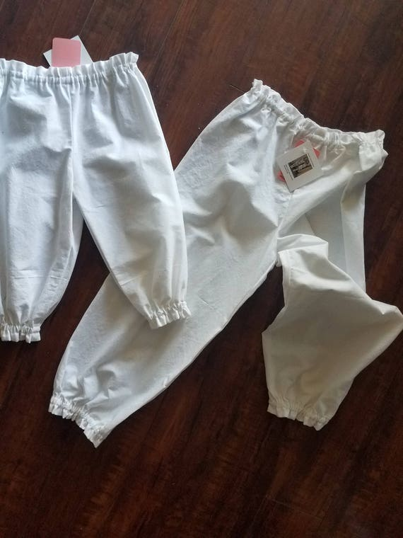 Knickers, Pantaloons, Bloomers, Under Pinning, Toddler Pantaloons, Adult Pantaloons, White Knickers, Vintage Trousers