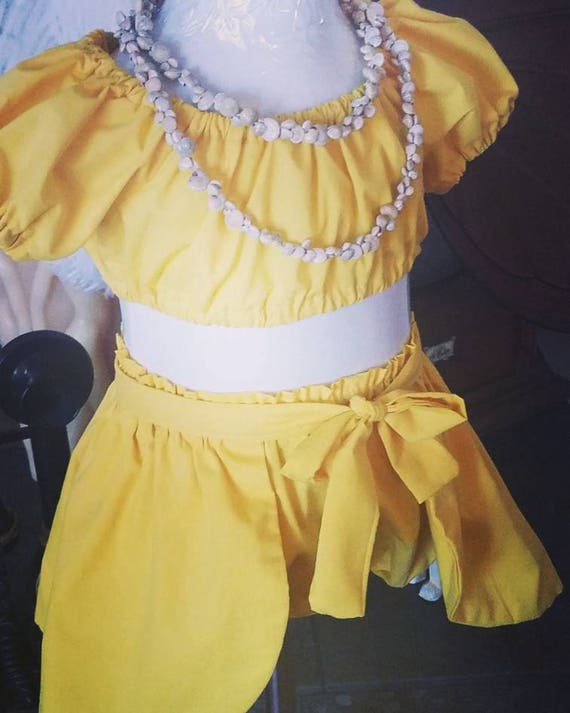 Brazilian Set, Luau Baby Girl, Toddler Brazilian Set,  Brazilian, Tropical Outfit, Hawaiian Baby Set, Luau Girl Set, Luau Infant, Yellow