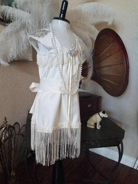 Great Gatsby, Great Gatsby Dress, Flapper Dress, Flower Girl Dress, White Flapper Dress, 1920'S Flapper Dress, White Flapper Dress, White