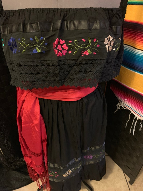 Coco, Day of The Dead, Dia De Los Muertos, Mexican Bohemian Dress, Embroidered Dress,