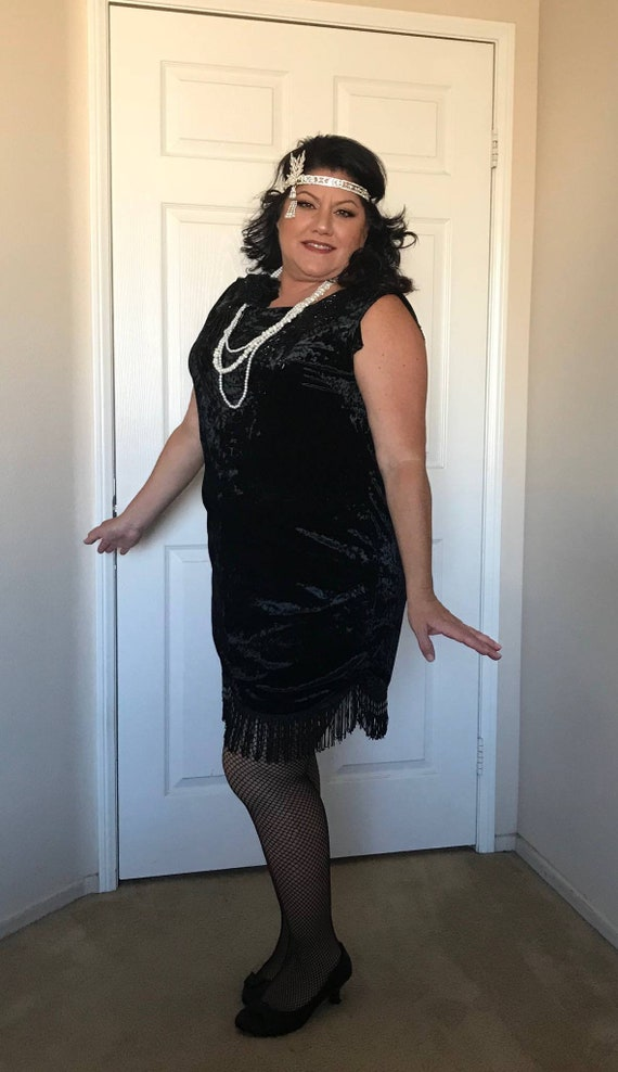 Great Gatsby Costume,  Roaring 20's Dress, Flapper,  Women's Dress, Flapper Cos Play, Black Flapper Dress, Vintage Dress, Geeat Gatsby Dress