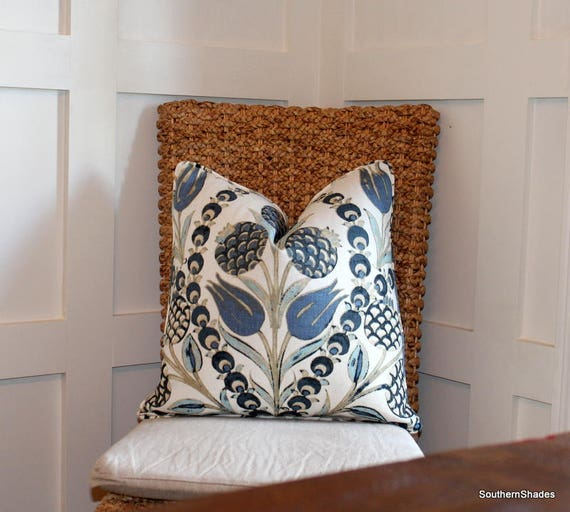 One Designer Cotton Pillows Thibaut