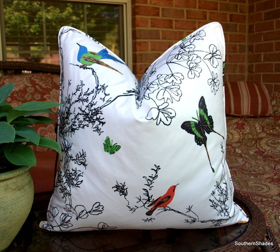 One Or Both Sides One Schumacher Birds And Butterflies Etsy