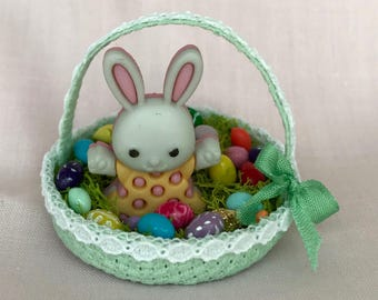 Bunny w Dress Easter Basket
