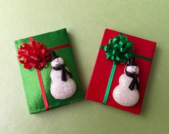 Snowman Decorated Package