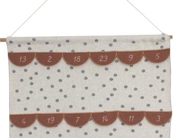 Adventskalender-Wandbehang (GOTS), sugar