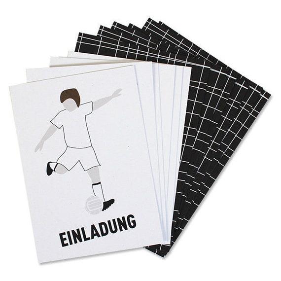 Einladungskarten Set Fussball Zum Ausmalen Etsy