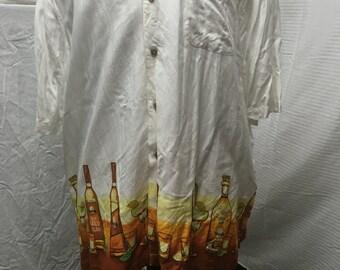 Mens short sleeve shirt, 2XL,button up, tequila theme, party shirt