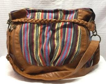 1a290c50f42 Aldo, Large Canvas purse, shoulder bag ,canvas,Faux leather